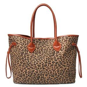 🆕️ 100% Collins Canvas Animal Print Tote Bag
